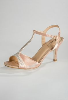 Low Heel Rhinestone and Satin Sandal from Camille La Vie and Group USA