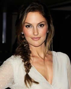 I'm pretty obsessed with side braids right now.  My hair just needs to get a bit longer to really pull it off.