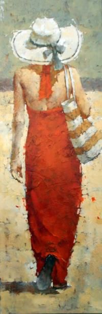 Andre Kohn Love his brushwork... and he appears to love red as much as I do.