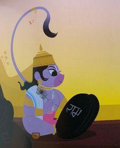 Shri Hanuman, Krishna, Lord Sri Rama, Bhagavad Gita, Hindu Art, Gods And Goddesses, Funny Facts, Ancient Art, Symbols