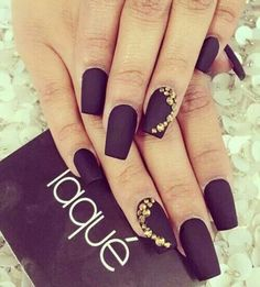 Matte Black with Gold stones!!!