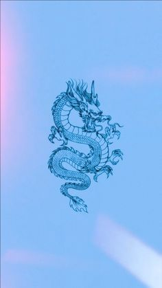 blue dragon astethic wallpaper