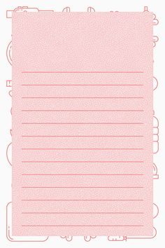 Download free vector of Blank pink fitness note template vector 1206783