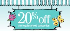 20% off any regular-priced transaction