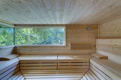 Saunagang mit Blick in die Natur