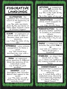 Figurative Language Bookmarks Manic Monday FREEBIE