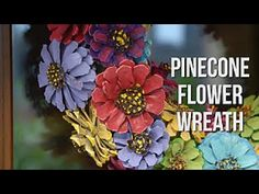 How to Make a Pinecone Flower Wreath - Easy Does It - HGTV - YouTube