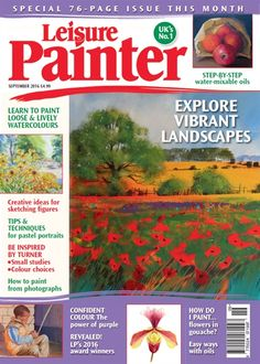 Leisure Painter offers artistic inspiration, guidance, tuition and encouragement for all beginners and amateur artists. Full of step-by-step painting and drawing demonstrations and packed with advice on ways to progress your drawing and painting in a. Art Tutor, Pastel Portraits, Small Study, Step By Step Painting, Watercolour Tutorials, Learn To Paint, Watercolor Landscape, Art Activities, All Art