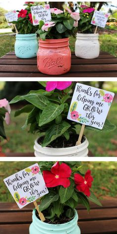Teacher flower pot gifts