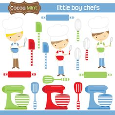 COCOA MINT Little boy chefs