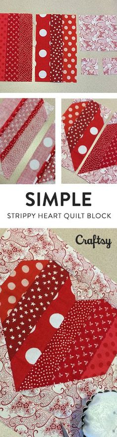 Do you have a special Valentine in your life? Show them how much you heart them with this quick and simple strippy heart quilt block! @Craftsy