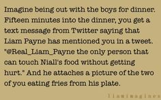 i can't wait for the day niall will share his food with a girl! and yes, even if it isn't me. (:
