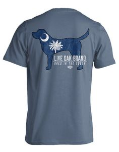 Live Oak Brand  SC State Pup Comfort Color T Shirt with Monogram by HeyYallandCo on Etsy
