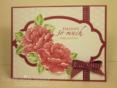 Stippled Blossom Thanks by stampwithsandy - Cards and Paper Crafts at Splitcoaststampers