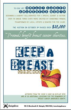 Keep A Breast Event produced by Designbox, worked with 100 women to cast themselves and 100 artists to create works of art from them. Raised breast cancer awareness as well as $10,000 towards breast cancer research. #designboxevent #designboxbrand #creativecommunity #keepabreast