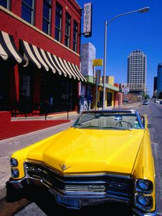 Classic Open-Topped Car Parked on West 6Th Street, Austin, Texas    by Richard Cummins
