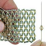 Embellishing Netting from Fusion Beads.  There is the base....then what embellishment?  many choices for this basic. #Seed #Bead #Tutorials