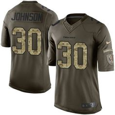 Nike Houston Texans Jersey 30 Kevin Johnson Green Men's Stitched NFL Limited Salute to Service Jerseys