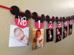 **I am only accepting 20 orders per event week/weekend. Please contact me prior to purchasing to make sure the date you are requesting is available. Thank you** This listing is for an adorable Mickey Mouse First Year Photo banner! Newborn through 12 months. This photo banner is