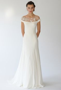 Gorgeous and graceful lines in this Lela Rose Spring 2014 Wedding Dress