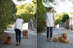 even Daisy had fun with us styling the WEST WATER TUNIC.