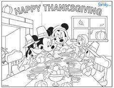 Thanksgiving Coloring Book Free Printable for the Kids ...