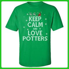 Keep Calm And Love Potters Jobs Ugly Christmas Sweater - Adult Shirt - Holiday and seasonal shirts (*Amazon Partner-Link)