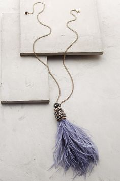 Fluttered Feather Pendant Necklace | Anthropologie