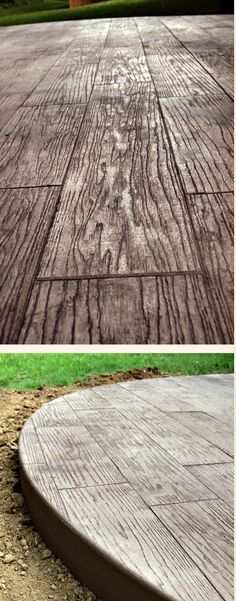 concrete made to look like wood. love it!