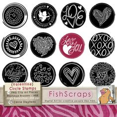 Love Valentines Day - Doodled Clip Art circles. Valentine Clipart Photoshop Brushes Use for wedding invitations, Valentines, Etsy Shop banners, blog banners, candy bar wrappers, wedding favors, Baby Shower Invites or thank you cards, Print as stic Awesome pic! Check out this post for FREE Valentine's Day Clip Arts http://tpt-fonts4teachers.blogspot.com/2013/01/san-valentines-day-free-clip-arts.html