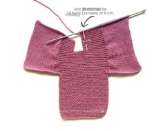 Knitted Baby Cardigan – PINK LADY – Crochet , Knitted Baby Cardigan – PINK LADY – Now we are going to join both pieces. If everything is correct, we must knit with Knitting. Baby Knitting Patterns, Baby Cardigan Knitting Pattern Free, Baby Sweater Patterns, Knitted Baby Cardigan, Knit Baby Sweaters, Knitted Booties, Baby Hats Knitting, Baby Booties, Baby Patterns