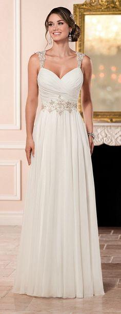 Stella York Romantic Wedding Dress with Keyhole Back style 6348 a / http://www.deerpearlflowers.com/stella-york-fall-2016-wedding-dresses/2/