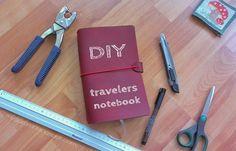DIY travelers notebook, midori style to fit moleskine cahier