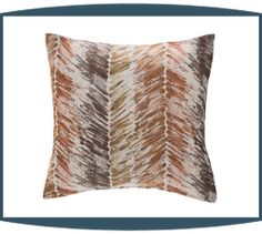 Plume Decorative Pillows in Canyon by Michael Amini