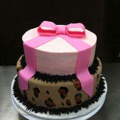 Cheetah Hot Pink Baby Shower Cake!