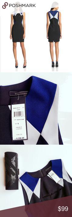 💋NWT BCBGMAXAZRIA woven dress Elegant design, cut-out at chest and back, back zipper closure💕 New with tag, no trade. BCBGMaxAzria Dresses Midi
