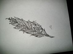 Custom Ink Drawing Black & White Commissioned Artwork by tarren Great Tattoos, Small Tattoos, White Feather Tattoos, Art Therapy Projects, Beautiful Henna Designs, Body Drawing, Feather Design, Picture Tattoos, Tattoo Designs