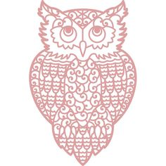 Intricut Owl Die 7.5 X 11.6 Cm | Hobbycraft