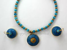 Classic Paper Quilled Necklace & Jhumki Set