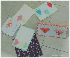 Tarjetas en origami  https://www.facebook.com/MononokeOrigami