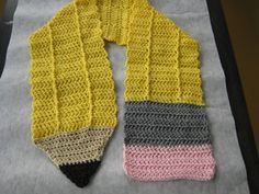 Knitting Pattern For Pencil Scarf : Baseball and Bat Novelty Scarf Crochet Pattern PDF The o ...