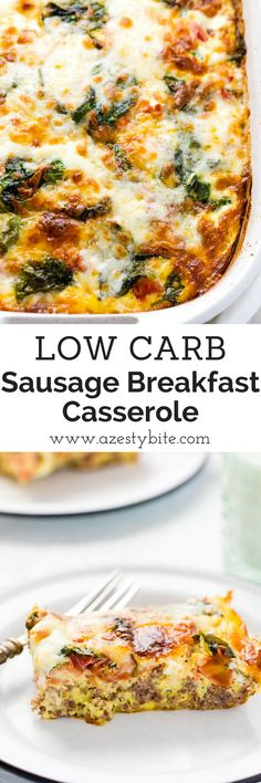 Low Carb Sausage Breakfast Casserole #lowcarbdiet #keto #lowcarb #breakfastcasserole