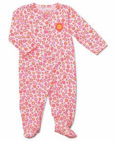 Carter's Baby Girls' Interlock Sleep n' Play Floral Coverall - Kids Baby Girl (0-24 months) - Macy's
