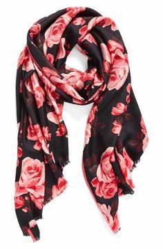 kate spade new york rosa silk scarf