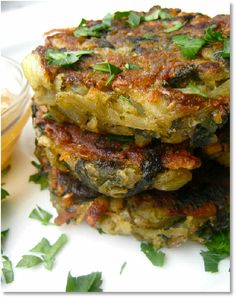 New Low FODMAP Recipes - Spinach Potato Cakes http://www.ibssano.com/low_fodmap_spinach_potato_cakes.html