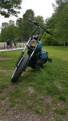 Bobber in Helsinki Bobber Chopper, Japan Style, Bobbers, Japan Fashion, Choppers, Helsinki, Four Square, Shadows, Motorcycles