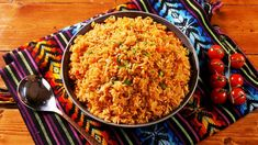 Spanish Rice - Delish.com Spanish Dishes, Mexican Dishes, Mexican Food Recipes, Healthy Eating Recipes, Vegan Recipes, Cooking Recipes, Healthy Dinners, Healthy Food, Best Easy Lasagna Recipe