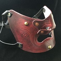 Leather Mempo Mask by Stinky Goblin Emporium...2016