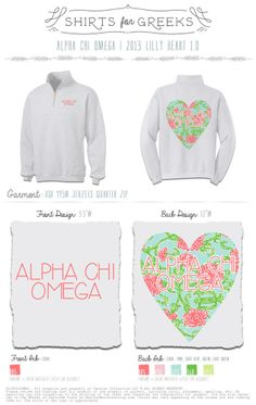 Image of Alpha Chi Omega | 2013 Lilly Heart