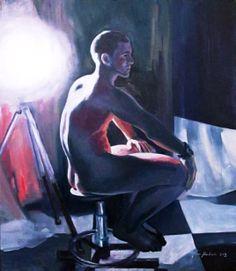 "Maria Kondimae ""In the Spotlight"" Oil on board, 50*60 cm. 2012."